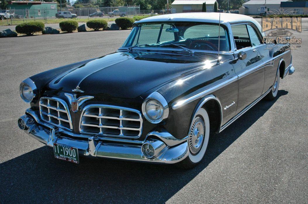 1955 Chrysler Imperial Newport Hardtop Classic Old Vintage Retro USA-1500x1000-06 wallpaper