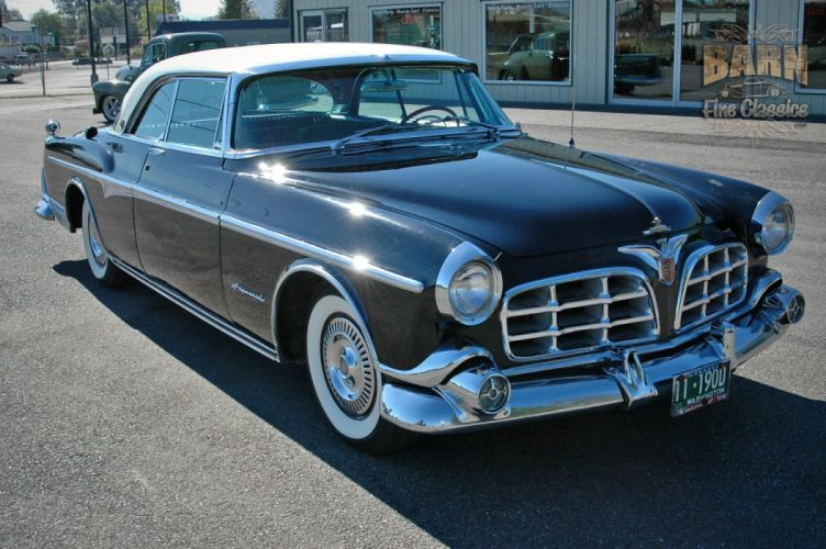 1955 Chrysler Imperial Newport Hardtop Classic Old Vintage Retro USA-1500x1000-15 wallpaper