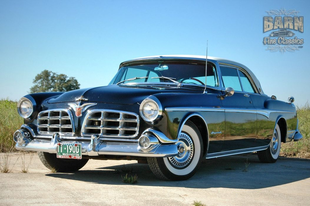 1955 Chrysler Imperial Newport Hardtop Classic Old Vintage Retro USA-1500x1000-24 wallpaper