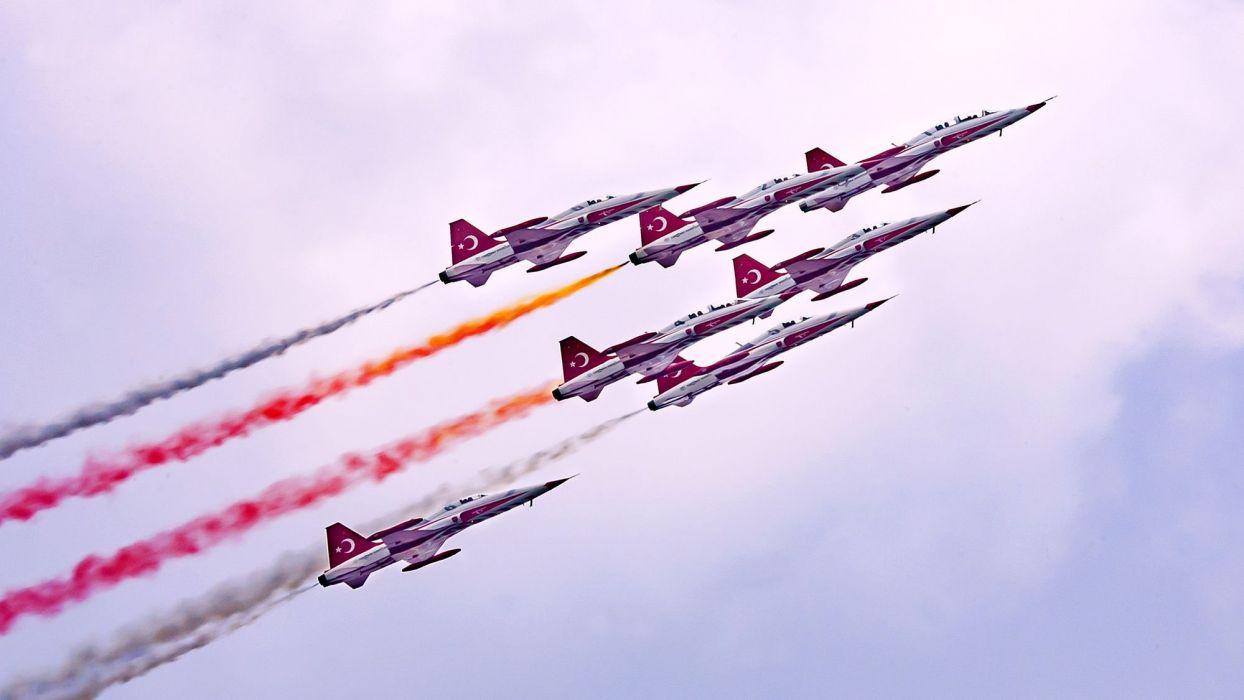 sky flight stars airshow jet bucharest aviation air show bias turkish stars roias wallpaper