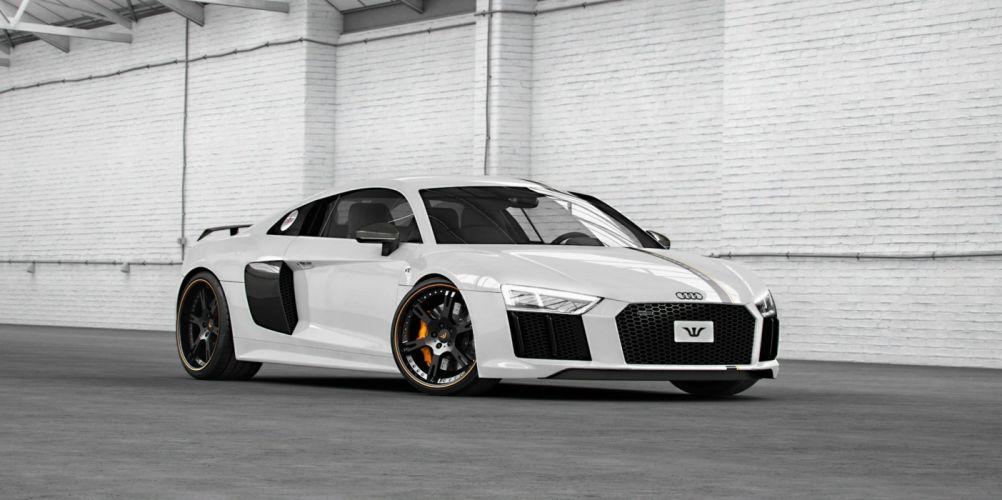 Audi R8 V10 Plus cars modified Wheelsandmore wallpaper
