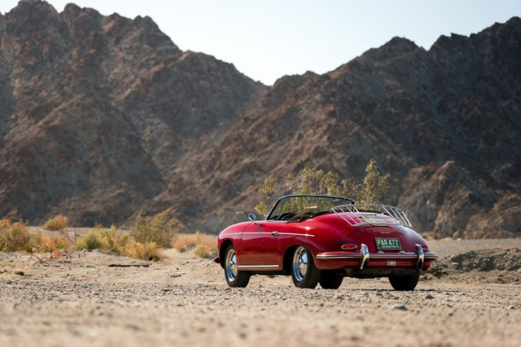 Porsche 356B 1600 Roadster Drauz (T5) cars classic red 1959 1962 wallpaper