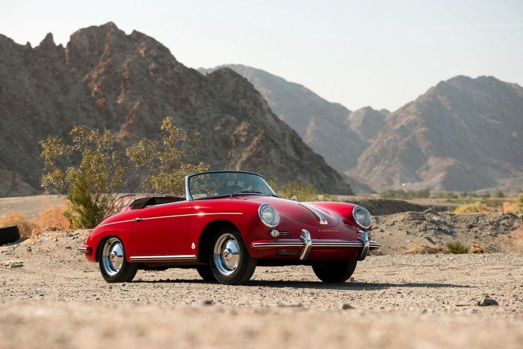 Porsche 356B 1600 Roadster Drauz (T5) cars classic red 1959 1962 wallpaper