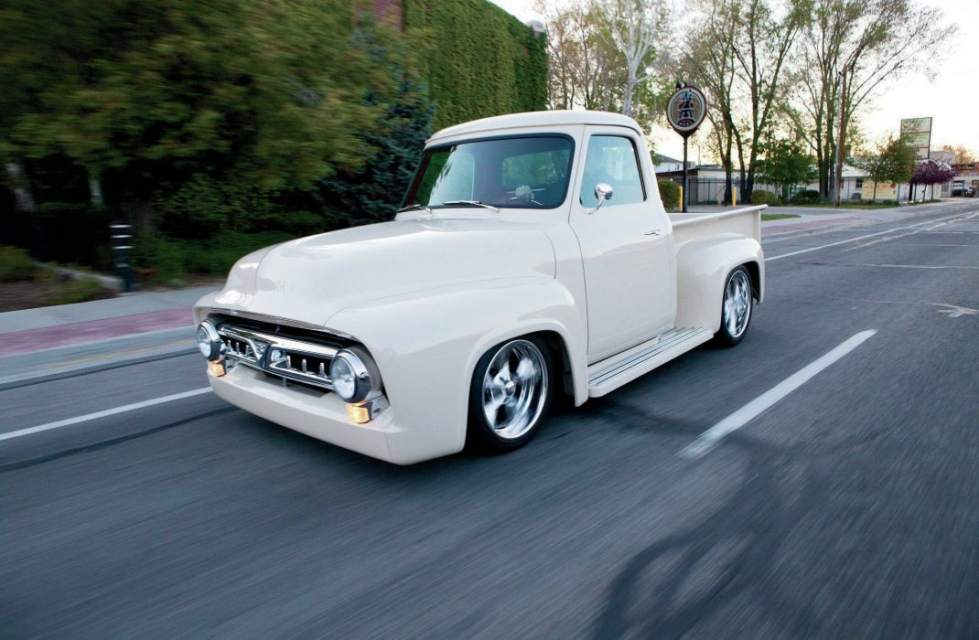 1953 Ford F-100 Pickup Streetrodder Street Rod Hot Low USA -04 wallpaper