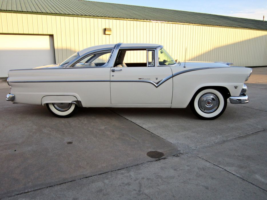 1955 Ford Crown Victoria Coupe Two Door Hardtop Classic Old Vintage Retro USA 1600c1200-02 wallpaper