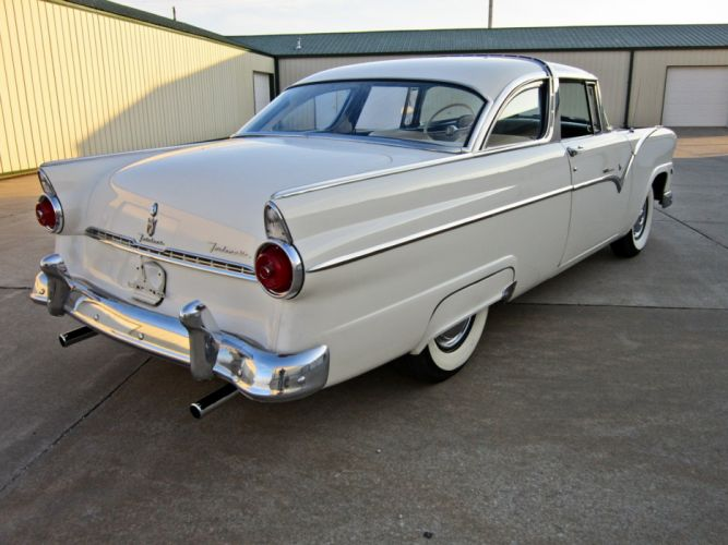 1955 Ford Crown Victoria Coupe Two Door Hardtop Classic Old Vintage Retro USA 1600c1200-03 wallpaper