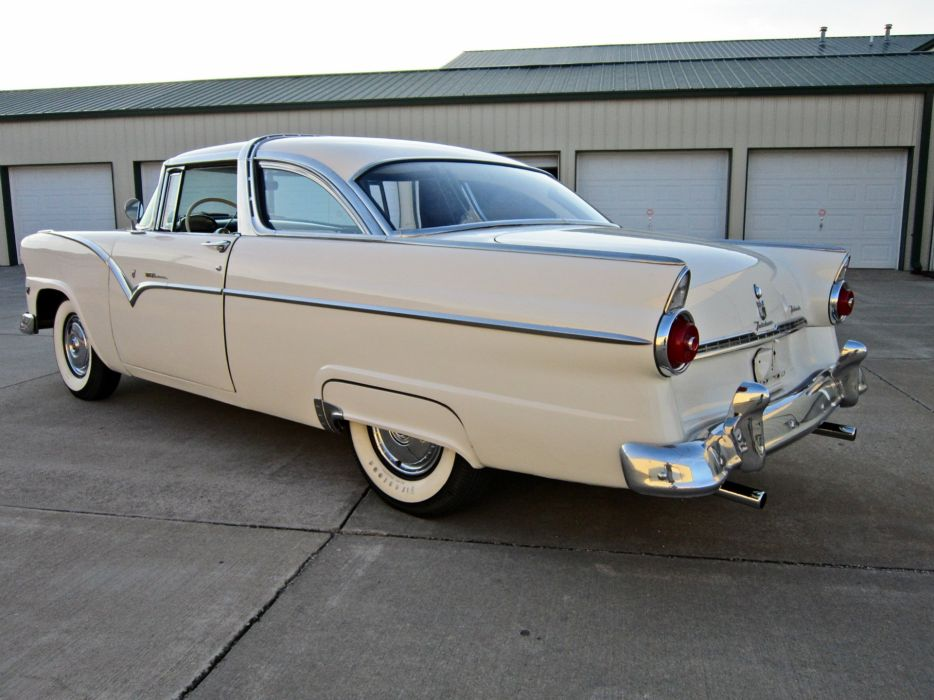 1955 Ford Crown Victoria Coupe Two Door Hardtop Classic Old Vintage Retro USA 1600c1200-04 wallpaper