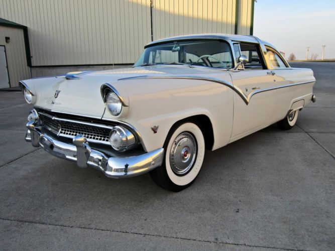 1955 Ford Crown Victoria Coupe Two Door Hardtop Classic Old Vintage Retro USA 1600c1200-05 wallpaper