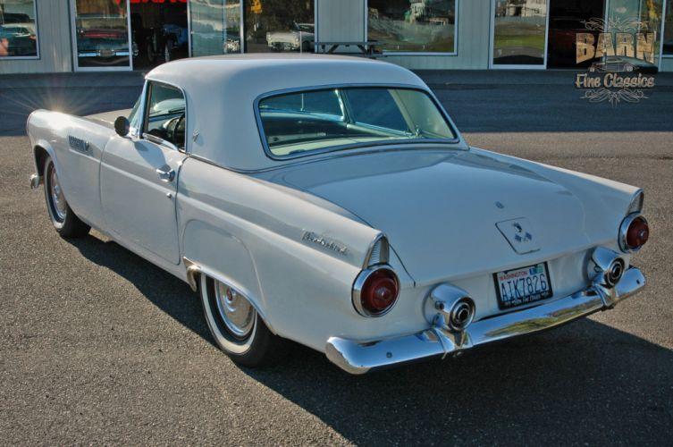 1955 Ford Thunderbird Convertible Classic Old Vintage Retro White USA-1500x1000-11 wallpaper