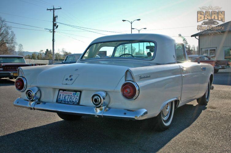 1955 Ford Thunderbird Convertible Classic Old Vintage Retro White USA-1500x1000-16 wallpaper