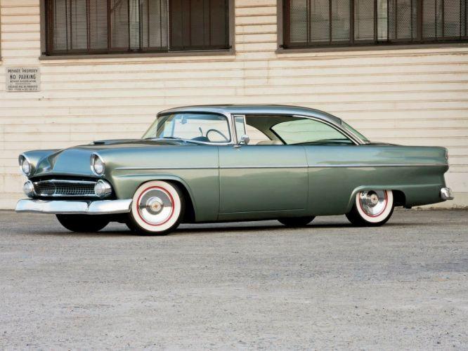 1955 Ford Vistoria Hardtop Hotrod Hot Rod Custom Kustom Old School Low USA 1600x1200-01 wallpaper