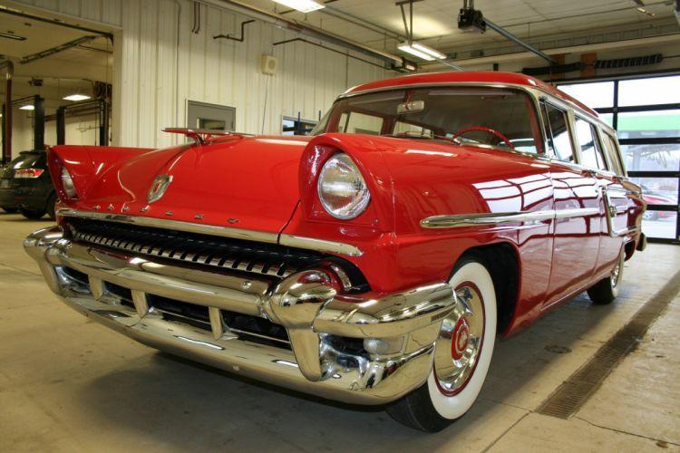 1955 Mercury Custom Wagon Red Classic Old Vintage Retro USA 1728x1152-03 wallpaper