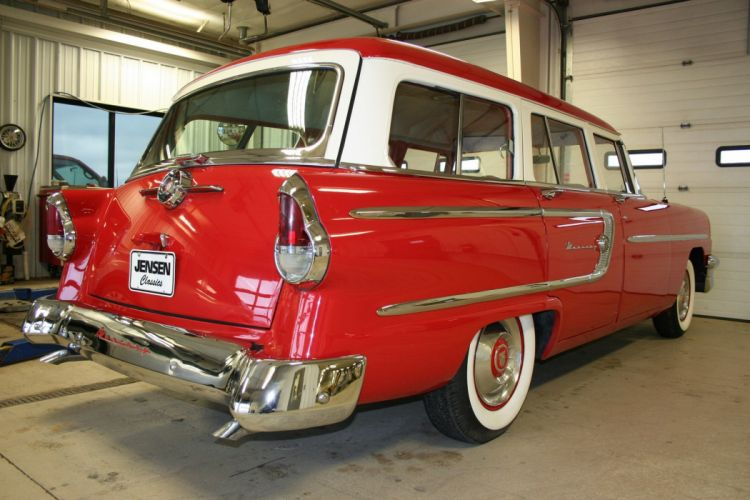 1955 Mercury Custom Wagon Red Classic Old Vintage Retro USA 1728x1152-02 wallpaper