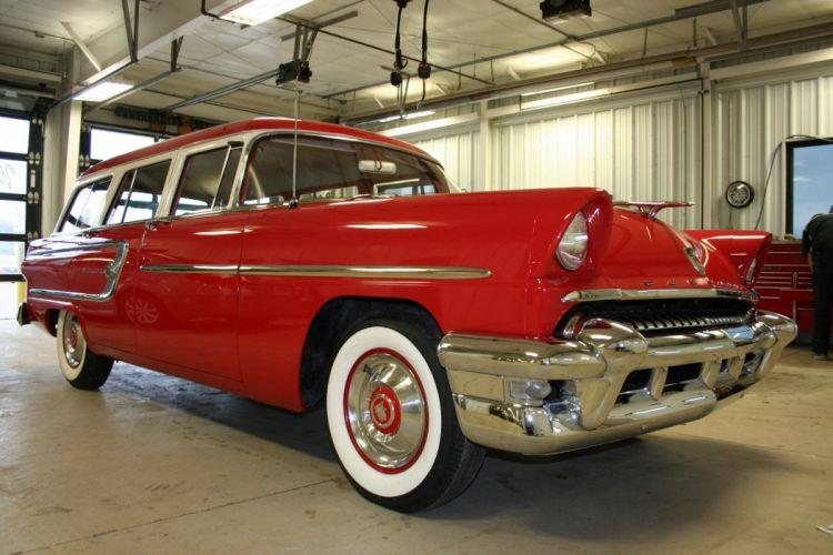 1955 Mercury Custom Wagon Red Classic Old Vintage Retro USA 1728x1152-01 wallpaper