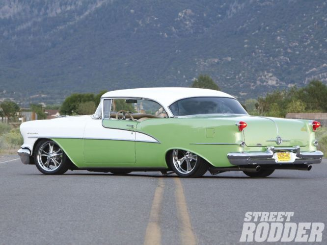 1955 Oldsmobile Holiday Two Door Hardtop Super 98 Hotrod Streetrod Hot Rod Street Rodder USA-02 wallpaper