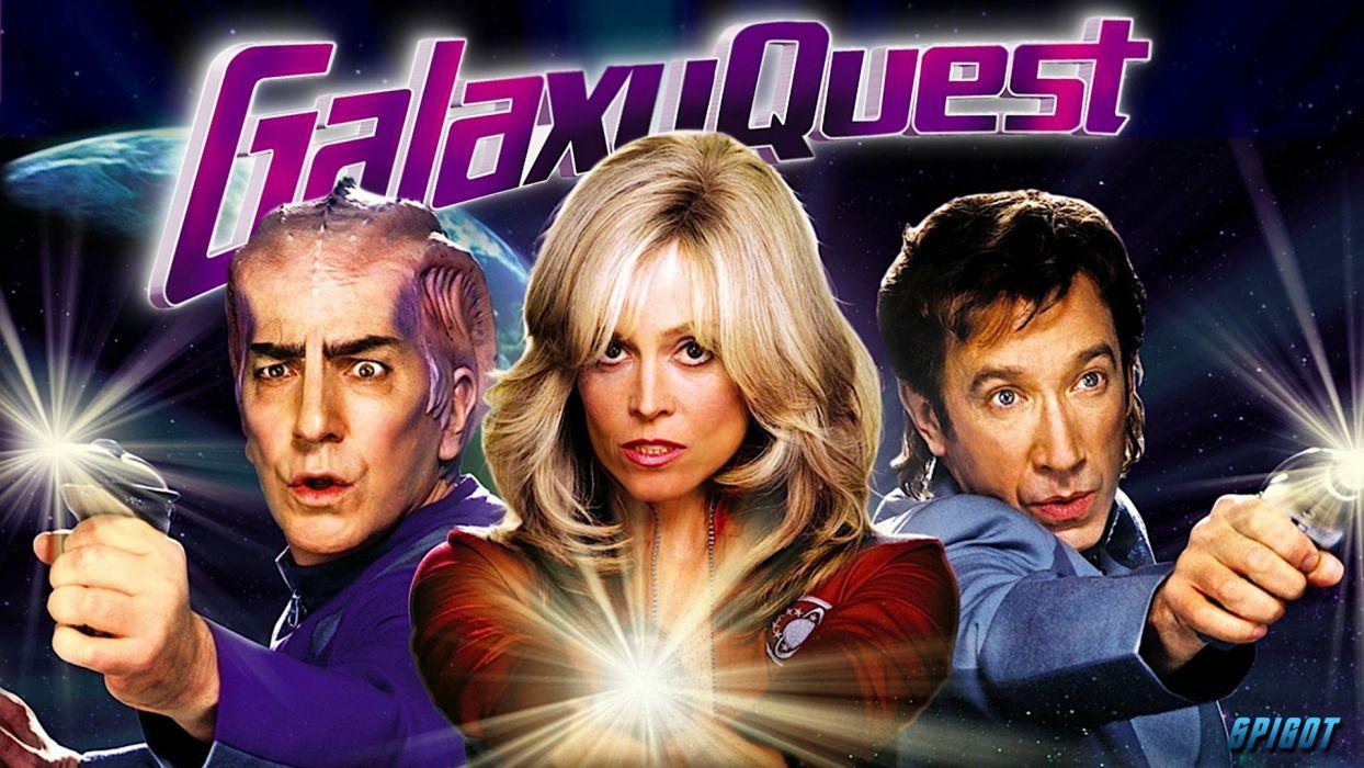 GALAXY QUEST space opera television series sci-fi futuristic spaceship 1quest adventure comedy poster wallpaper