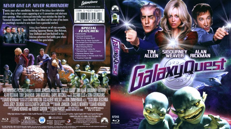 GALAXY QUEST space opera television series sci-fi futuristic spaceship 1quest adventure comedy poster wallpaper