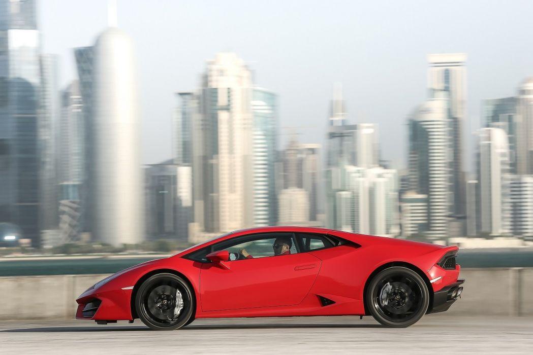2016 huracan Lamborghini LP580-2 Supercar cars coupe red wallpaper