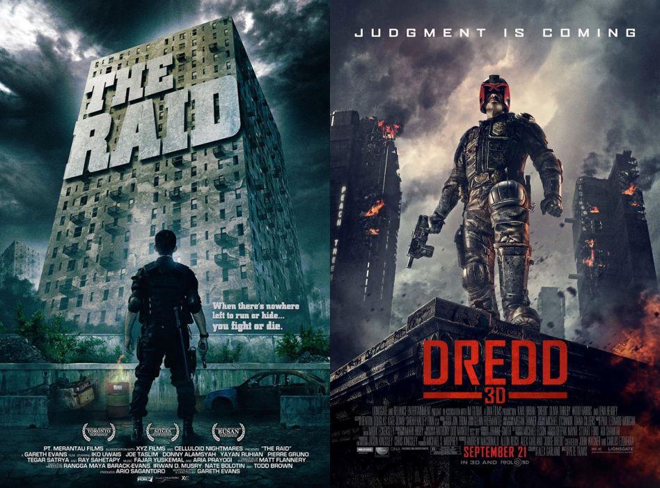 THE-RAID asian martial action raid crime thriller poster dredd wallpaper