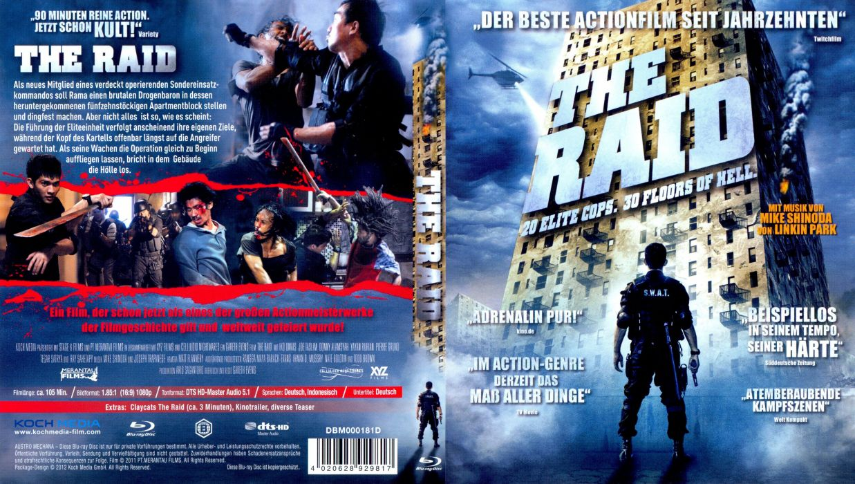 THE-RAID asian martial action raid crime thriller poster wallpaper