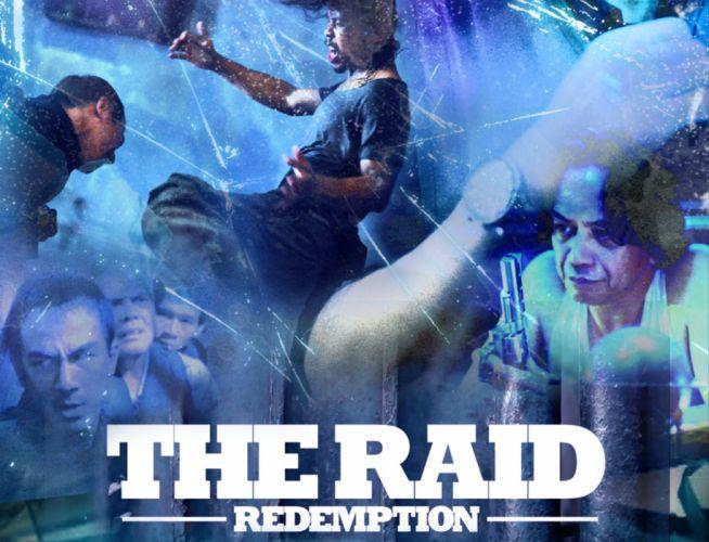 THE-RAID asian martial action raid crime thriller poster wallpaper