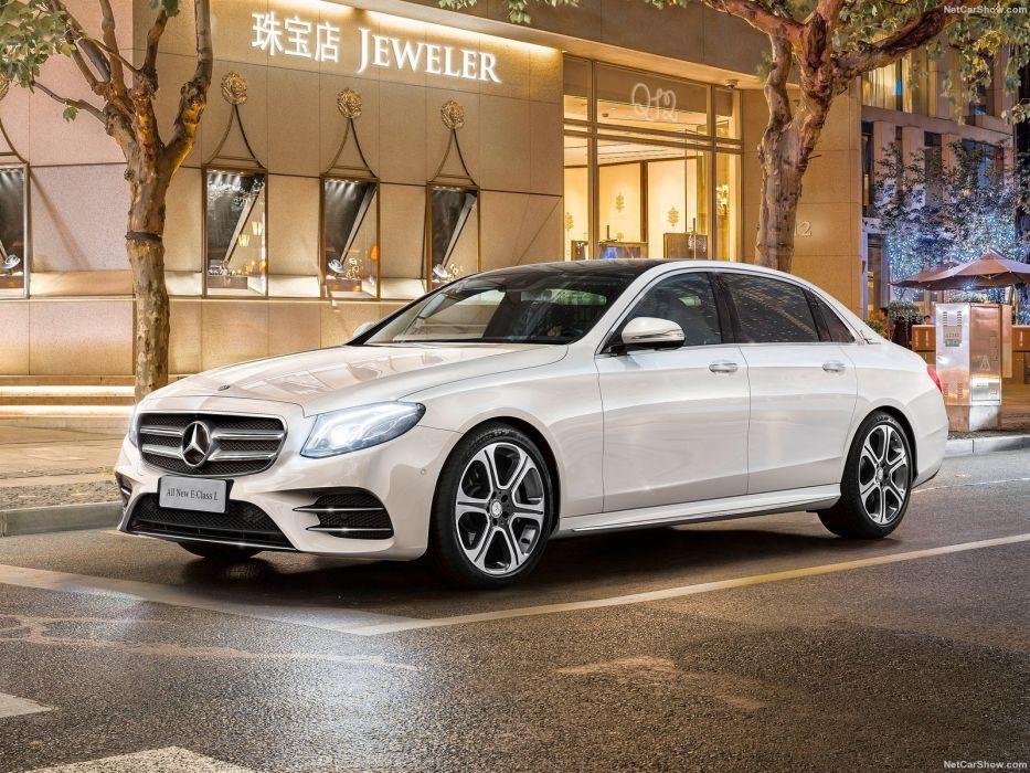 2016 Mercedes Benz E-Class L sedan cars wallpaper