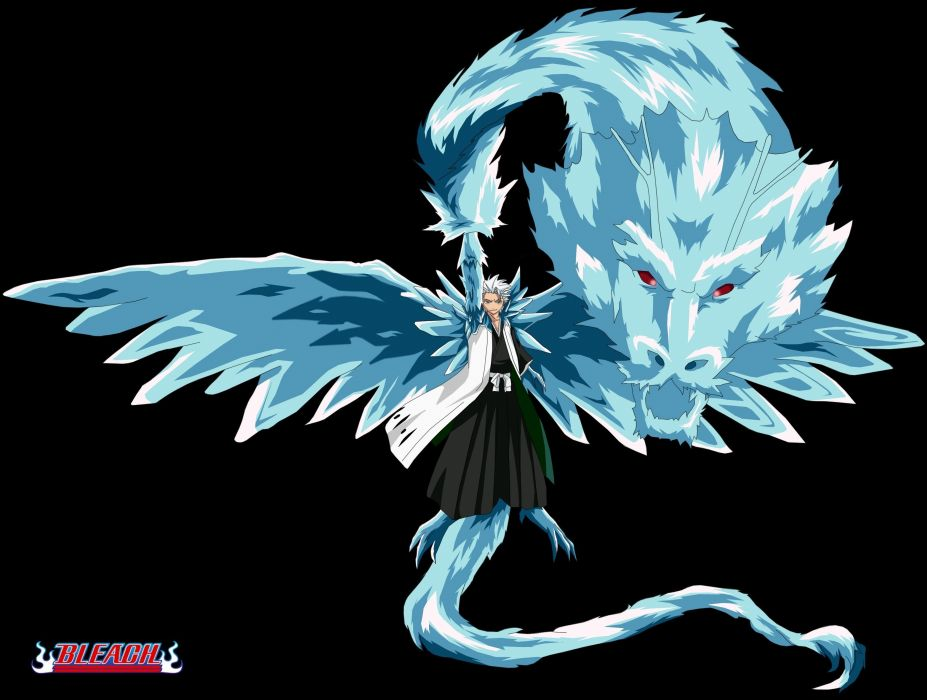 Bleach Bankai Daiguren Hyourinmaru Hitsugaya Toushiro Sword Katana Shinigami Ice Dragon Wallpaper