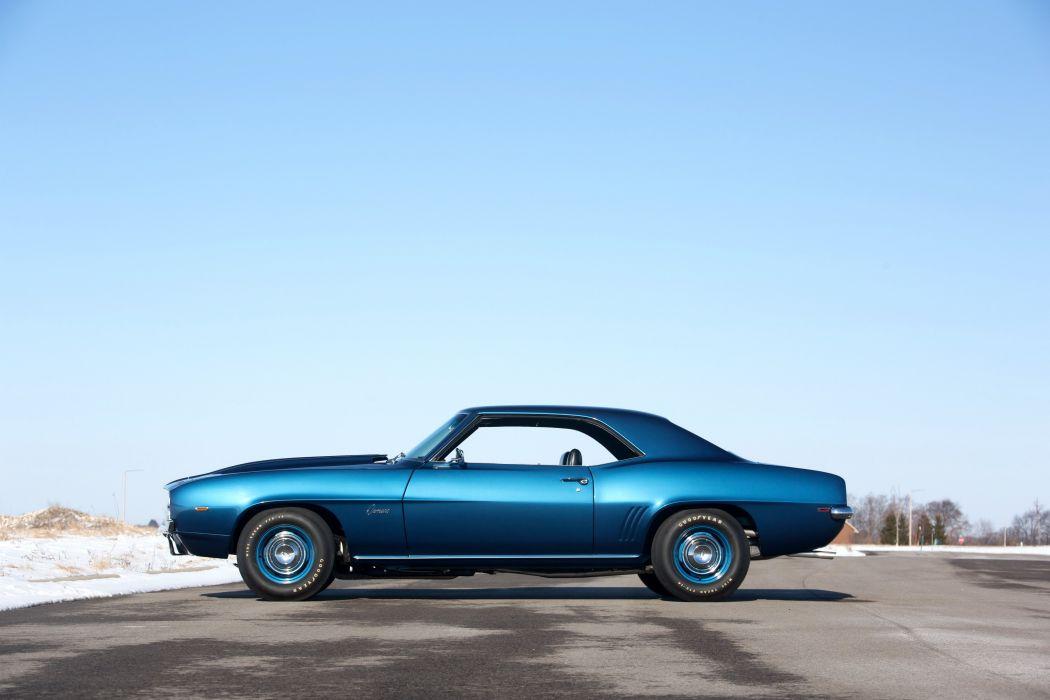 1969 Chevrolet Camaro chevy chevrolet ZL-1 COPO Dusk Blue cars classic wallpaper