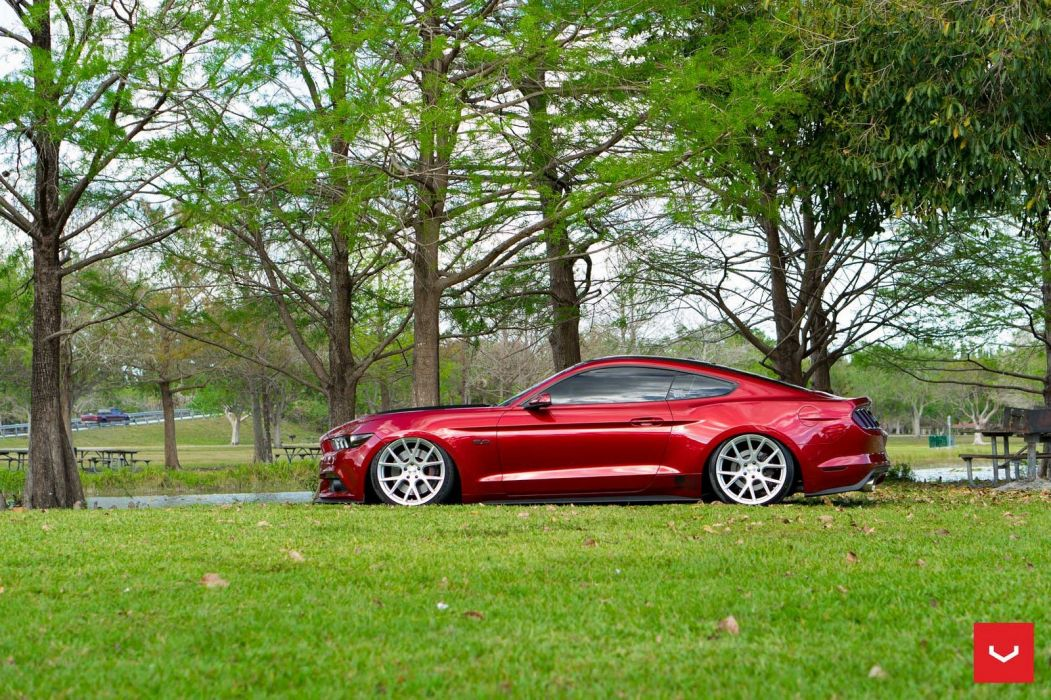 Ford mustang coupe cars vossen wheels wallpaper