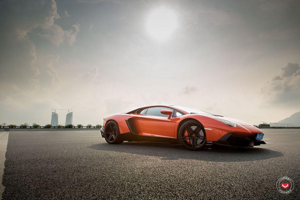 Lamborghini Aventador LP720-4 coupe cars vossen wheels wallpaper