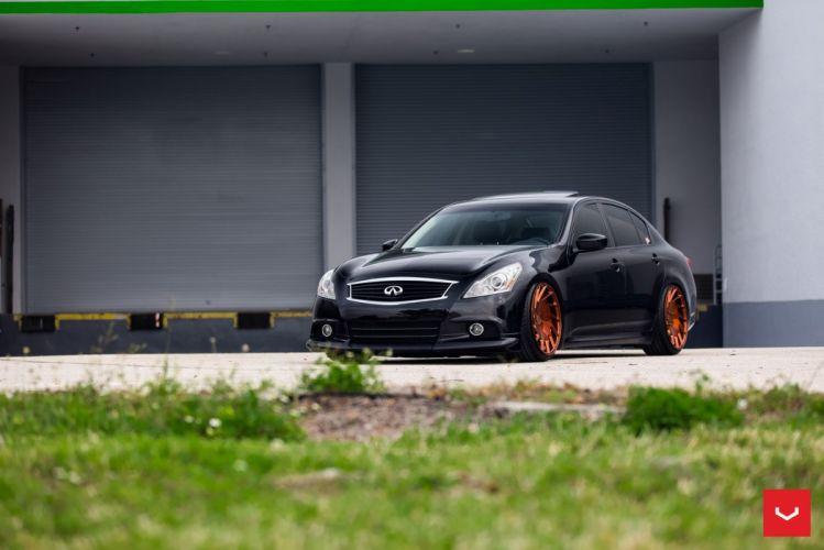 Infinti G37 black cars vossen wheels wallpaper