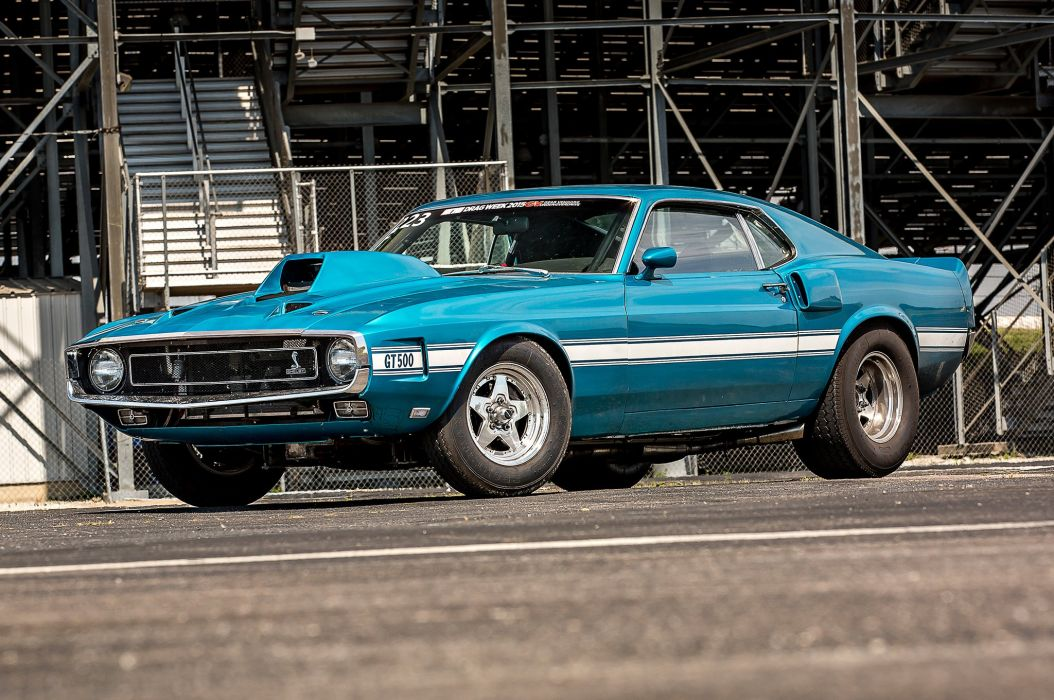 1969 Ford Mustang Shelby GT-500 Drag Race Pro Stock Dragstaer USA -05 wallpaper