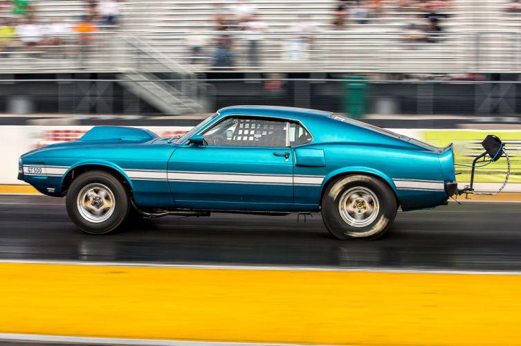 1969 Ford Mustang Shelby GT-500 Drag Race Pro Stock Dragstaer USA -07 wallpaper