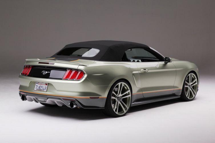 2015 Ford Mustang S550 Convertible Foose Pro Touring Super Street Car USA -08 wallpaper
