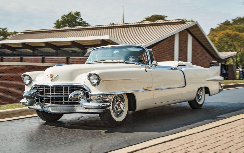 1955 Cadillac Eldorado Convertible Old Classic Vintage USA -02 wallpaper