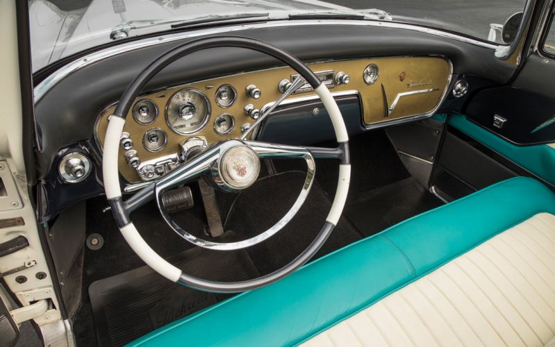 1955 Packard Caribbean Convertible Old Classic Vintage USA -01 wallpaper
