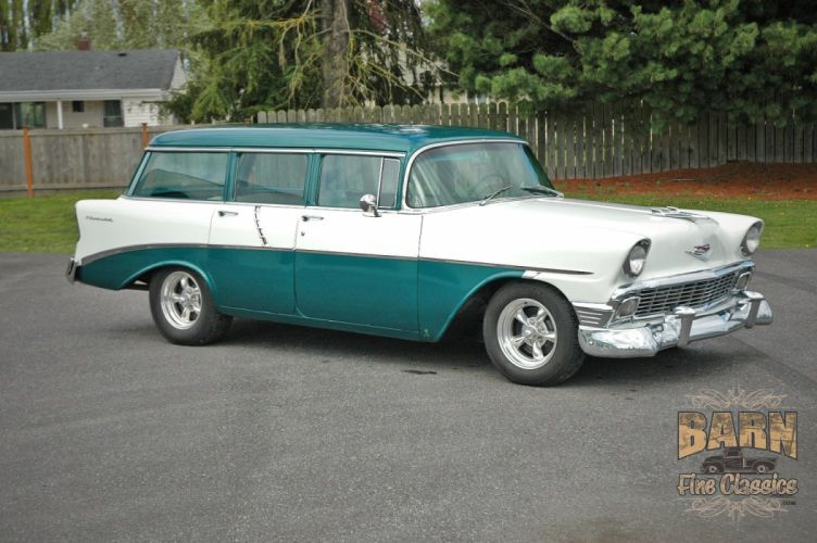 1956 Chevrolet Chevy 210 Bel Air Belair Nomad Four Door Wagon Hotrod Streetrod Hot Rod Street Rodder USA 1500x1000-05 wallpaper