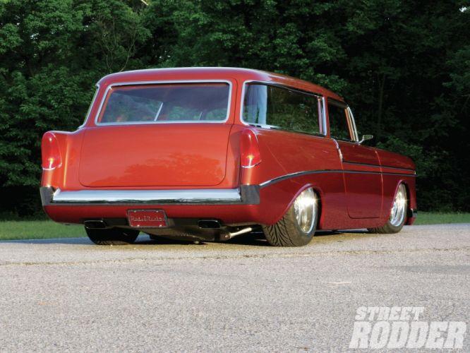 1956 Chevrolet Chevy 210 Bel Air Belair Nomad Hotrod Streetrod Hot Rod Street Rodder USA 1500x1000-03 wallpaper