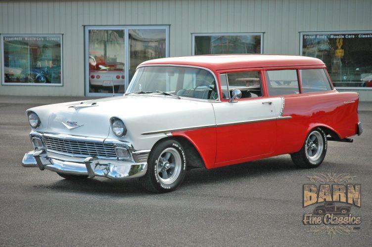 1956 Chevrolet Chevy 210 Bel Air Belair Nomad Two Door Wagon Hotrod Streetrod Hot Rod Street Rodder USA 1500x1000-01 wallpaper