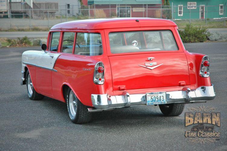 1956 Chevrolet Chevy 210 Bel Air Belair Nomad Two Door Wagon Hotrod Streetrod Hot Rod Street Rodder USA 1500x1000-02 wallpaper