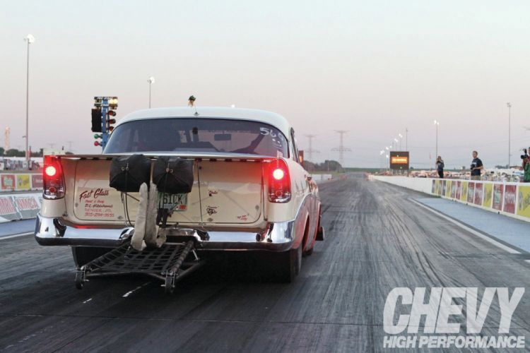 1956 Chevrolet Chevy 210 Bel Air Belair Two Door Sedan Drag Dragster Race Racing Red USA-1500x1000-04 wallpaper