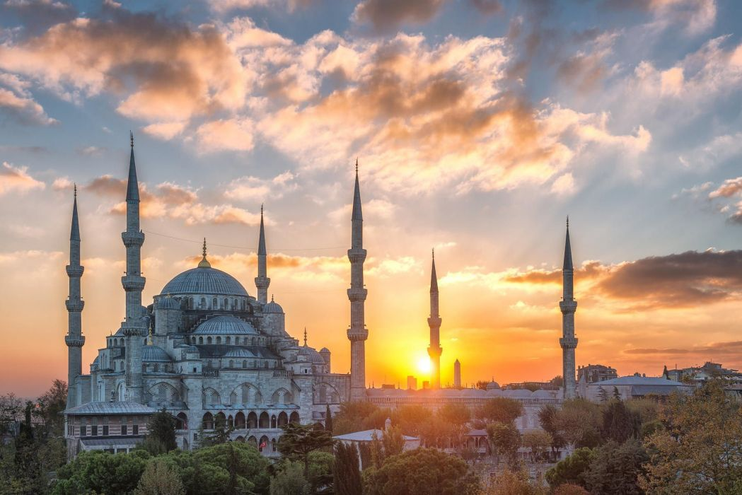 city sun sky cloud morning sky turkey istanbul landscape mosque amazing beauty wallpaper