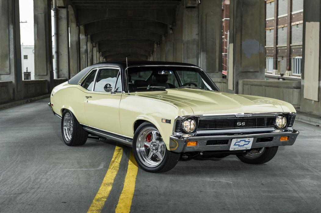1968 Chevrolet Chevy Nova SS Streetrodder Street Rod Rodder Hot Cruiser Muscle Classic Old USA -10 wallpaper
