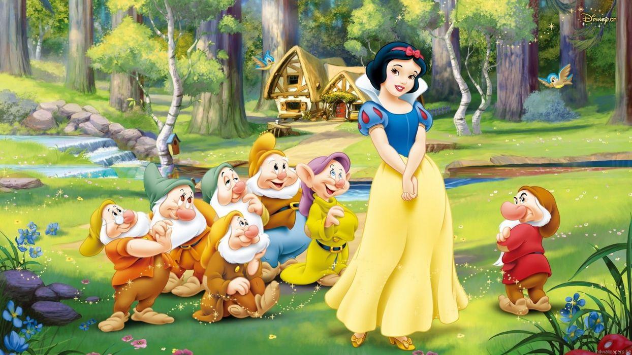 blanca nieves 7 enanitos cartoons wallpaper