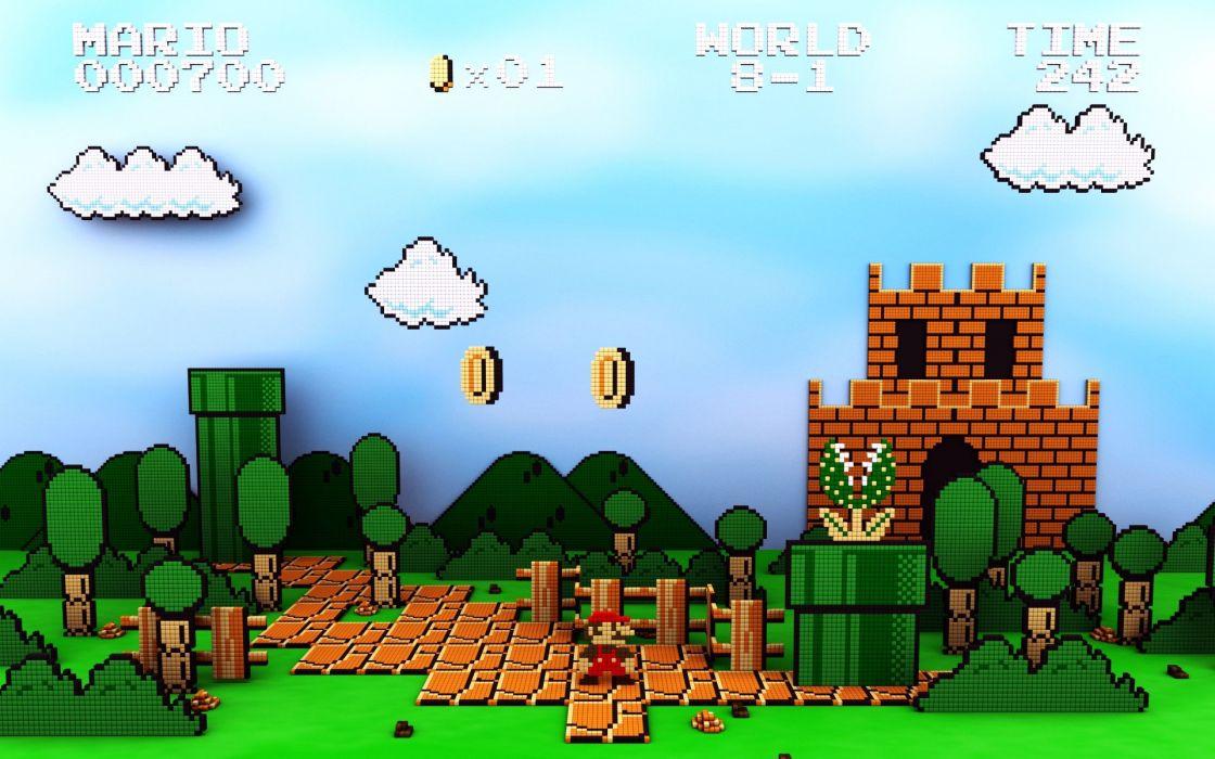 clasico video juego super mario bros wallpaper