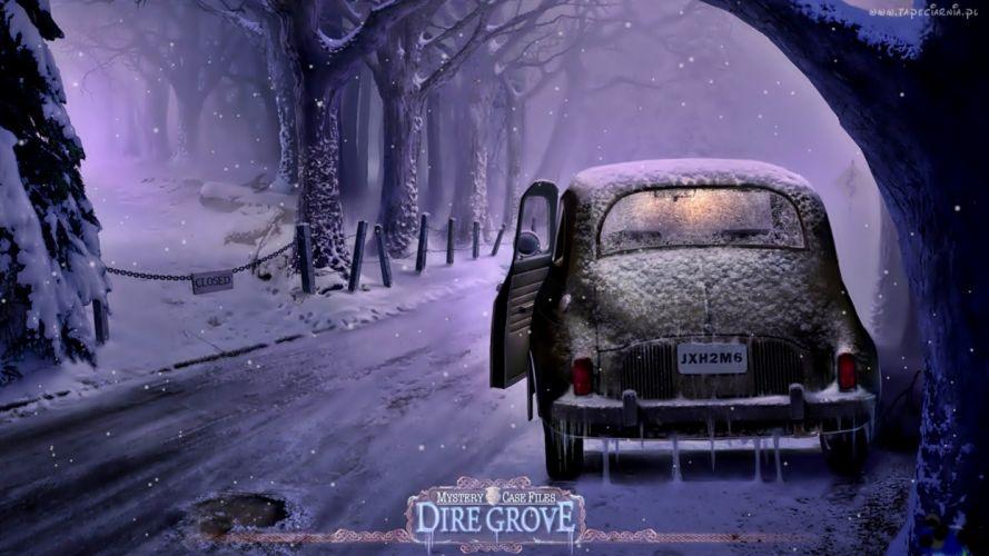 DIRE GROVE fantasy adventure puzzle exploration dark perfect magic rpg online crime mystery poster wallpaper