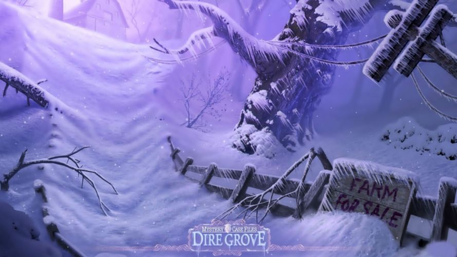 DIRE GROVE fantasy adventure puzzle exploration dark perfect magic rpg online crime mystery poster wallpaper