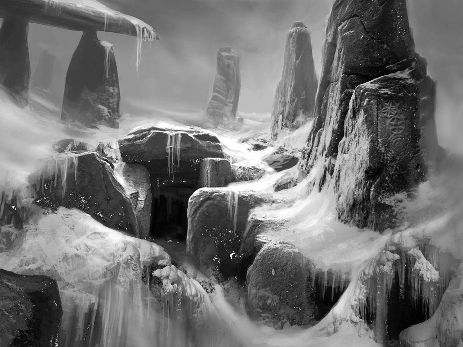 DIRE GROVE fantasy adventure puzzle exploration dark perfect magic rpg online crime mystery wallpaper