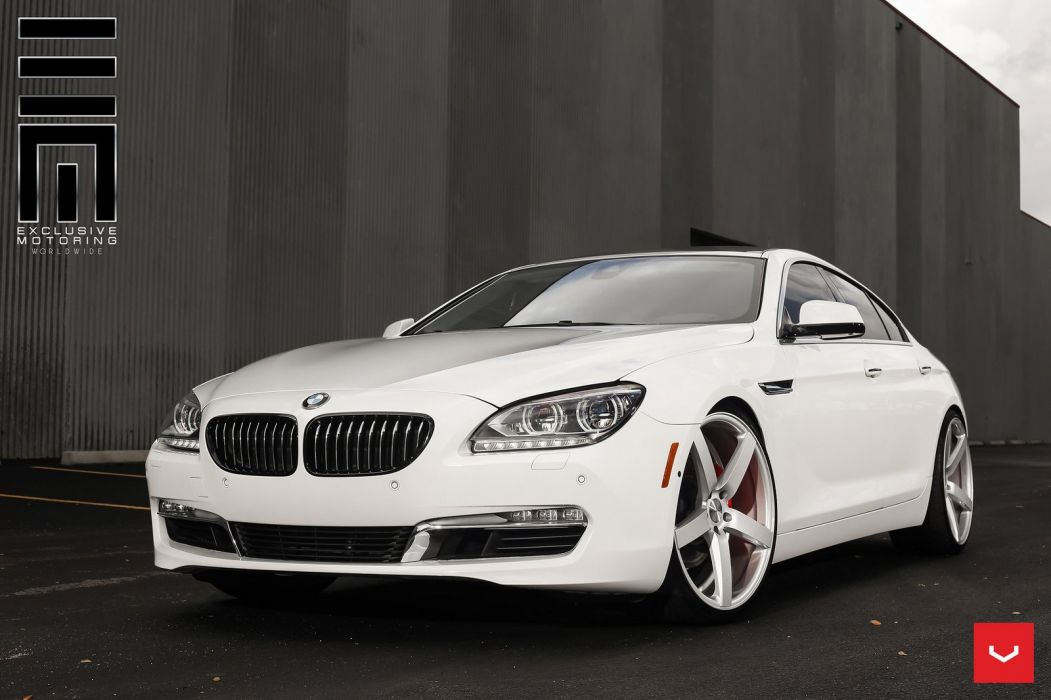 BMW 6-Series coupe cars Vossen wheels cars wallpaper