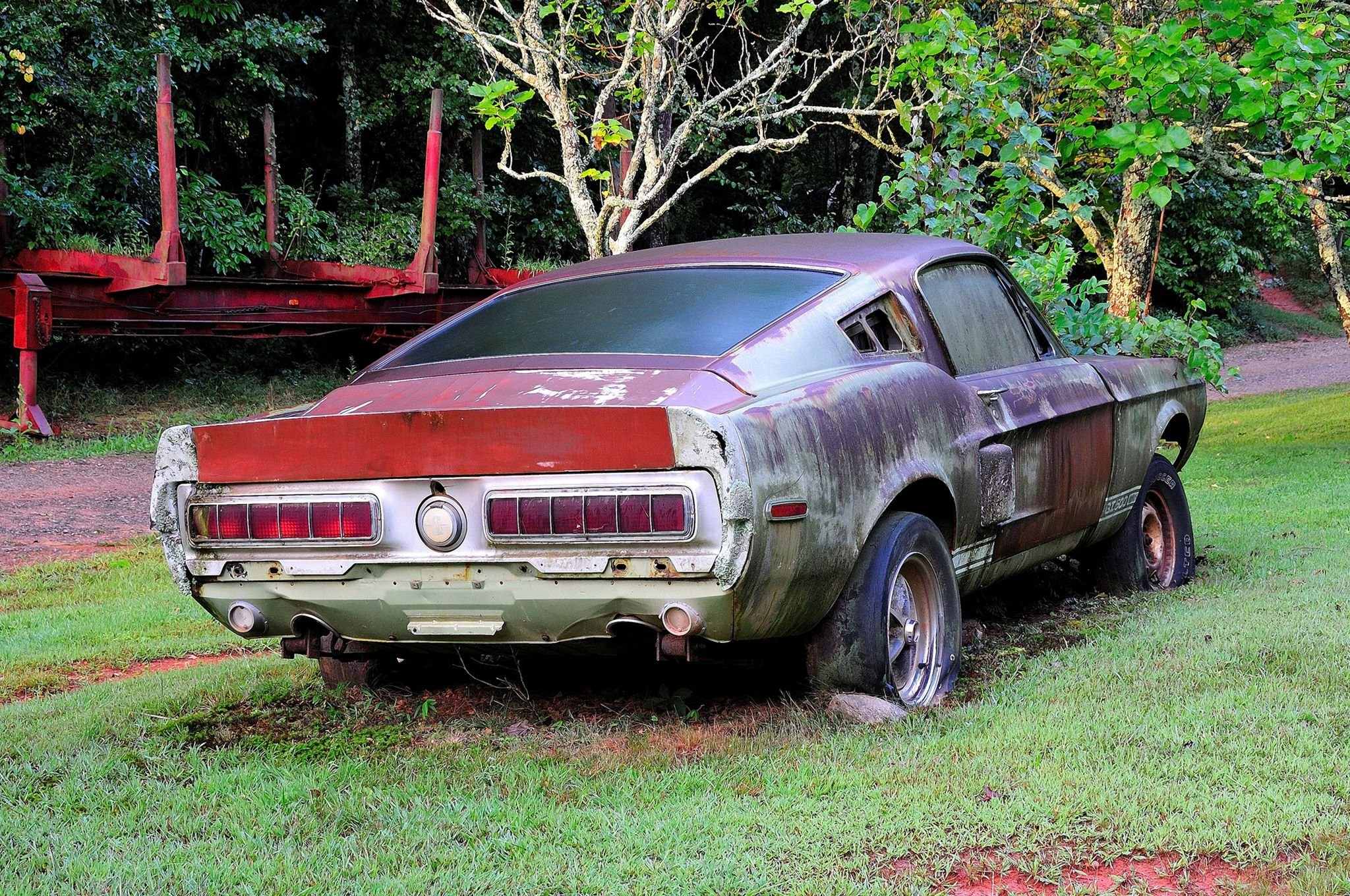 1967 Ford Mustang Shelby GT500 427 Yard Rust USA -06 wallpaper ...